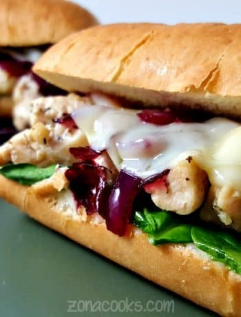 Chicken Florentine Sub Sandwich Recipe - great lunch or dinner for two