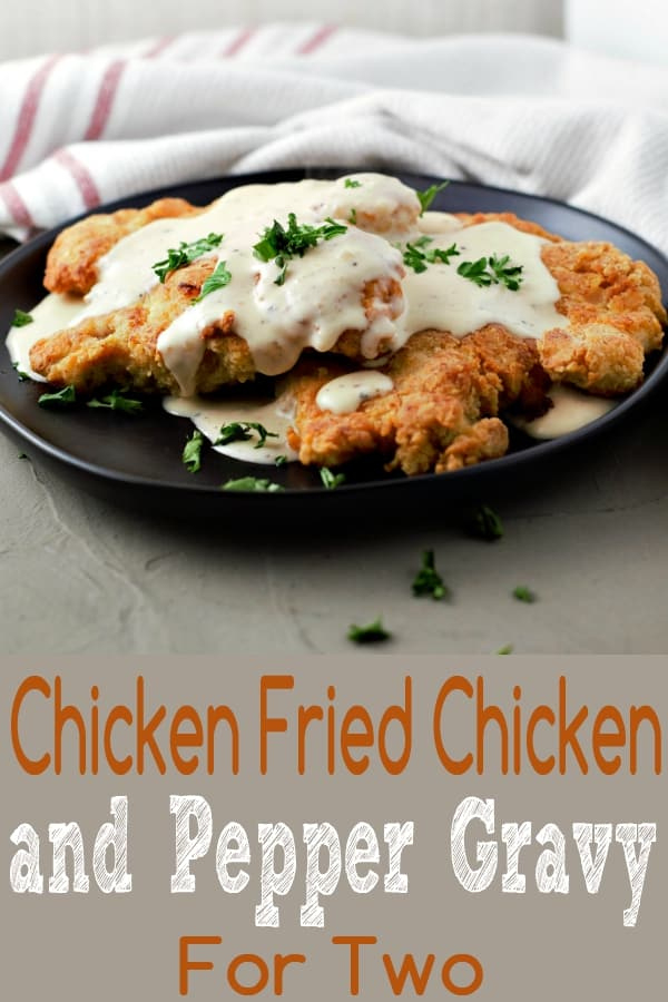 Chicken Fried Chicken and Gravy Recipe for Two