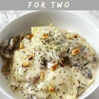 Mushroom Parmesan Ravioli Recipe for Two