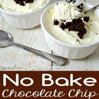 No Bake Chocolate Chip Cheesecake Recipe for Two