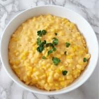 One Pot Cheesy Creamed Corn Recipe - serves 4