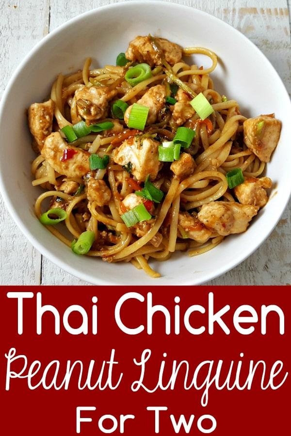 Thai Chicken Peanut Linguine Recipe for Two
