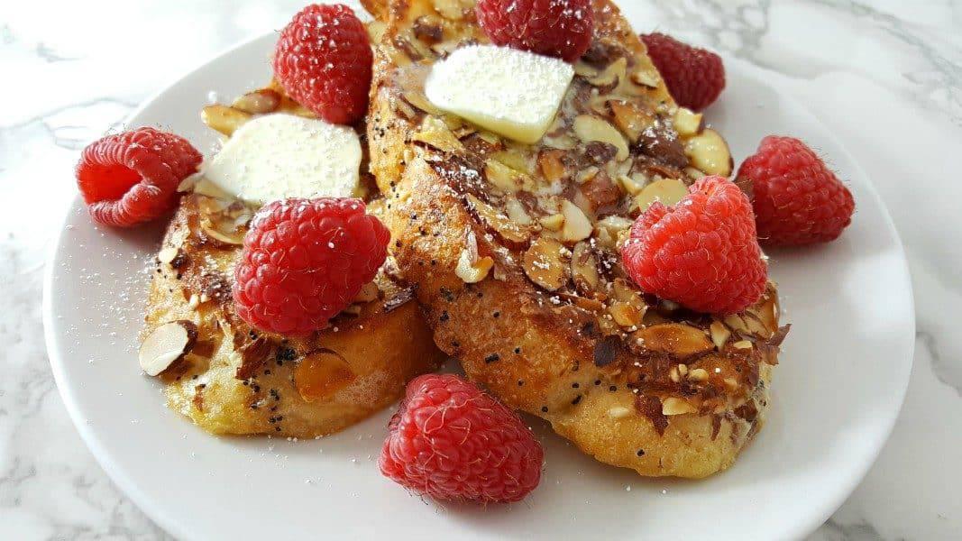 Almond Raspberry French Toast
