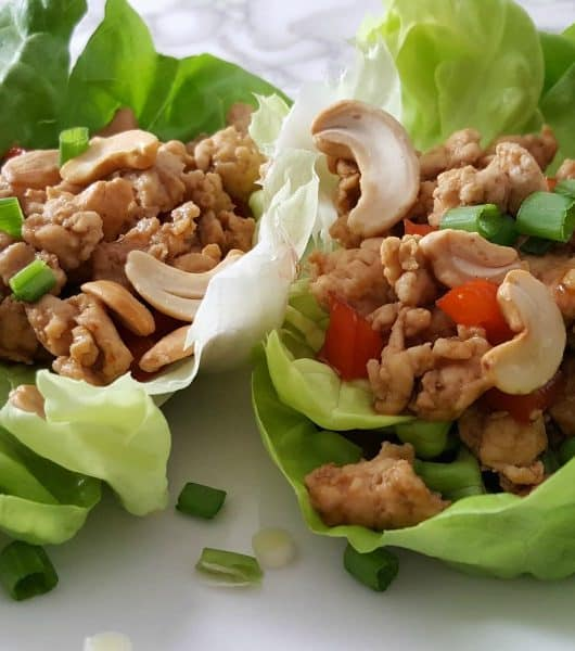 Asian Chicken Lettuce Wraps Recipe for Two - great for lunch, dinner, or date night!