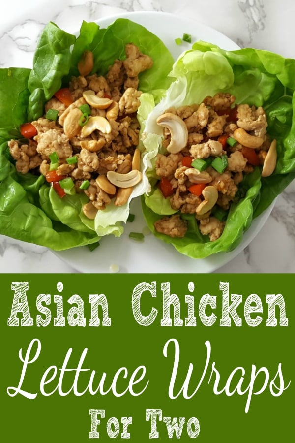 Asian Chicken Lettuce Wraps Recipe for Two