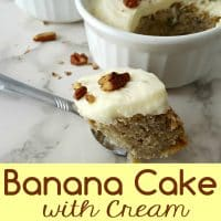 Banana Cake with Cream Cheese Frosting Recipe for Two