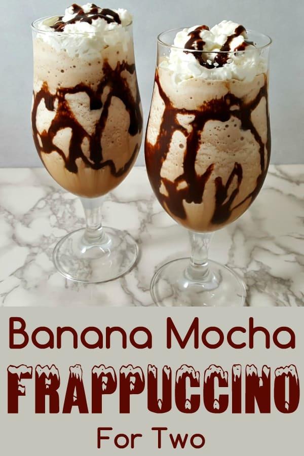 Banana Mocha Frappuccino Recipe for Two