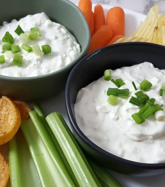 Blue Cheese Beer Dip Small Batch Recipe for Two - creamy, chunky, and delicious!