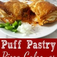 Cheesy Pizza Puff Pastry Calzones Recipe for Two