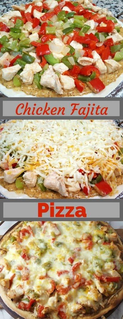 Chicken Fajita Pizza Small Batch for Two  #chicken #fajita #pizza #dinnerfortwo #recipesfortwo #datenight #smallbatch