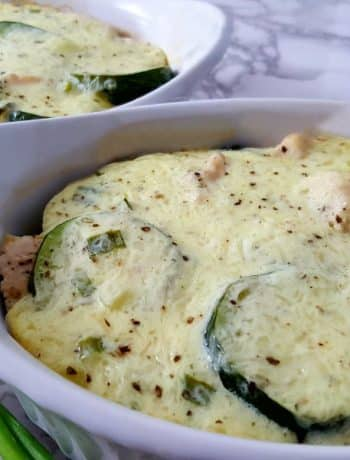 Chicken Zucchini Bake Low Carb Recipe for Two - great for breakfast, lunch, or dinner!