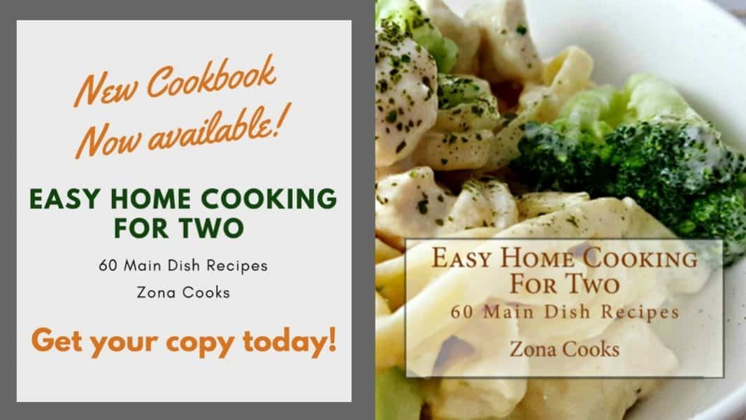 Easy Home Cooking For Two Cookbook