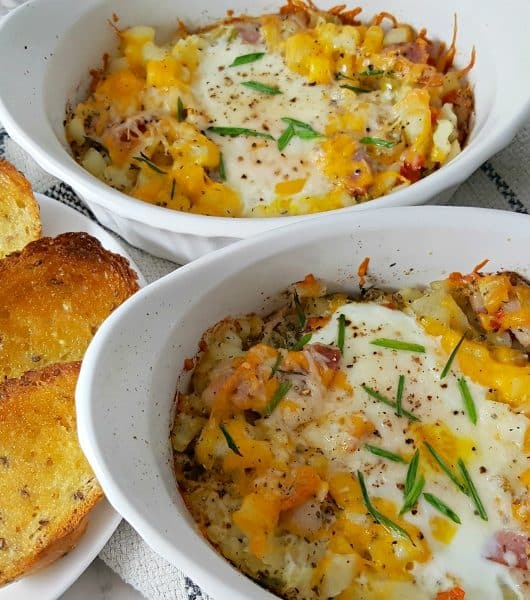 Individual Breakfast Bake Recipe for Two - also great for lunch or dinner