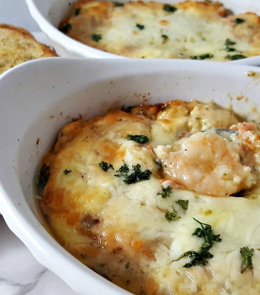 Shrimp Seafood Lasagna Recipe for Two - delicious and creamy!