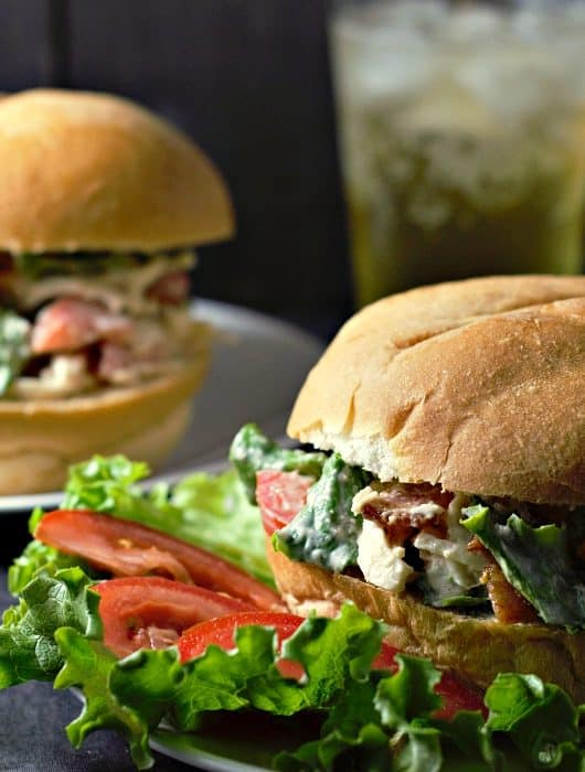 BLT Chicken Salad Sandwiches Recipe for Two - great lunch or dinner for two!