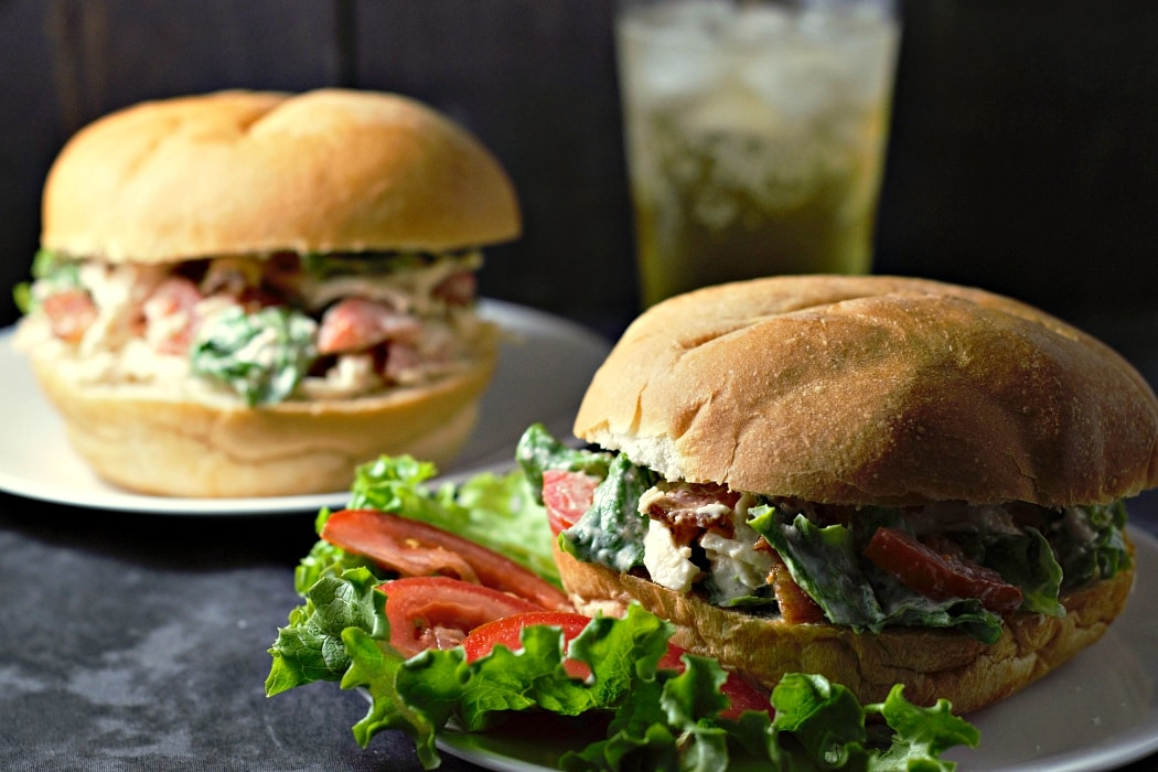 BLT Chicken Salad Sandwiches
