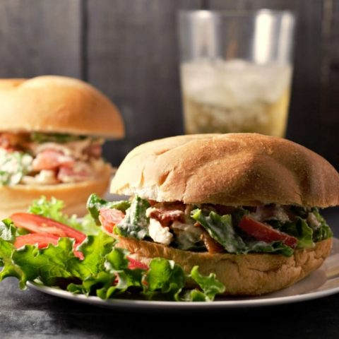 BLT Chicken Salad Sandwiches Recipe for Two - Small Batch