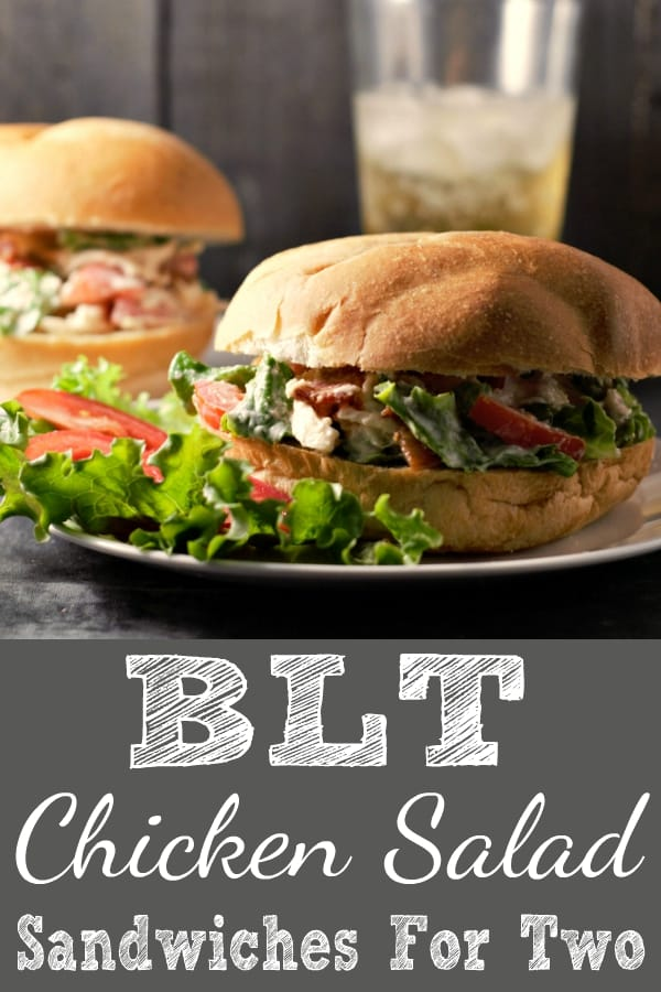 BLT Chicken Salad Sandwiches Recipe for Two