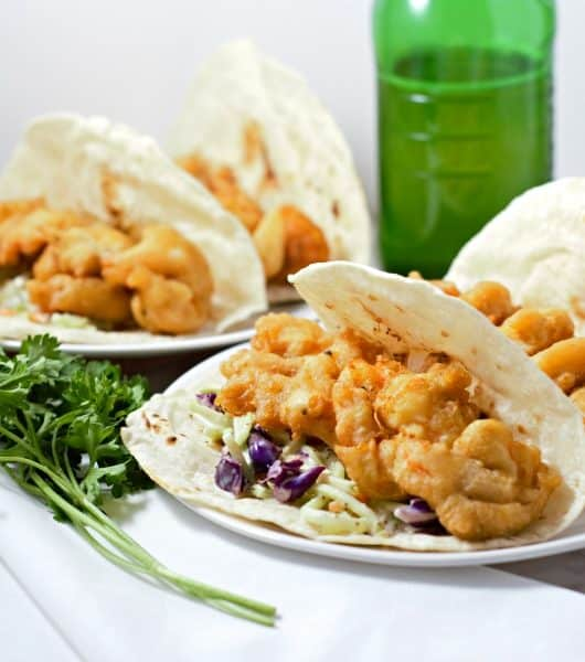 Beer Battered Shrimp Tacos Recipe For Two - easy and delicious lunch or dinner