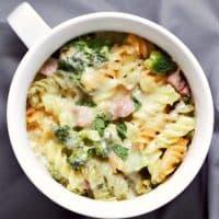 Cheesy Ham Broccoli Pasta Bake