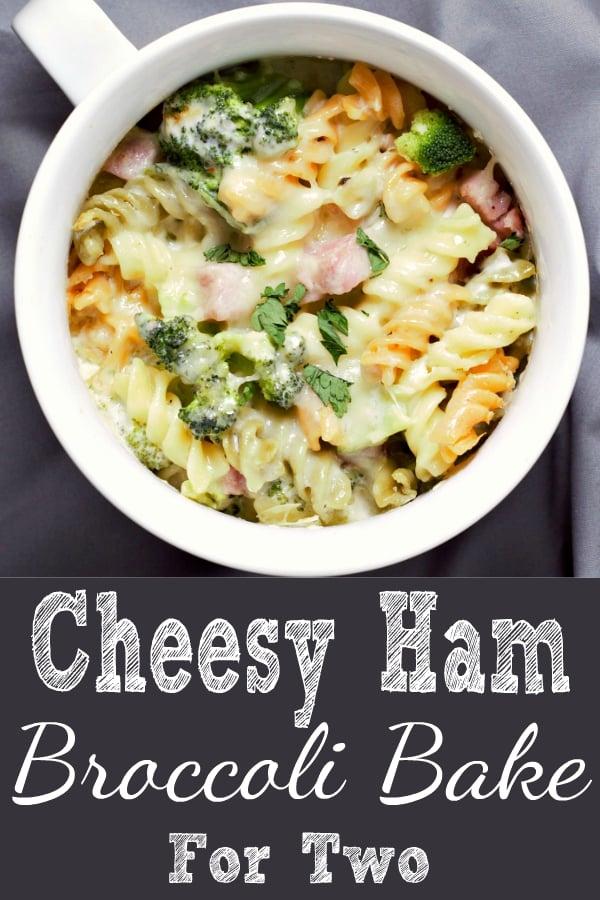 Cheesy Ham Broccoli Bake Recipe for Two