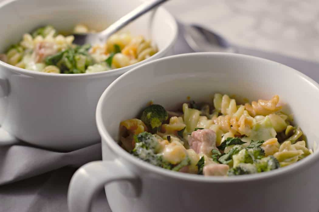Cheesy Ham Broccoli Bake