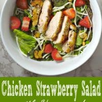 Chicken Strawberry Salad and Poppy Seed Dressing Recipe for Two