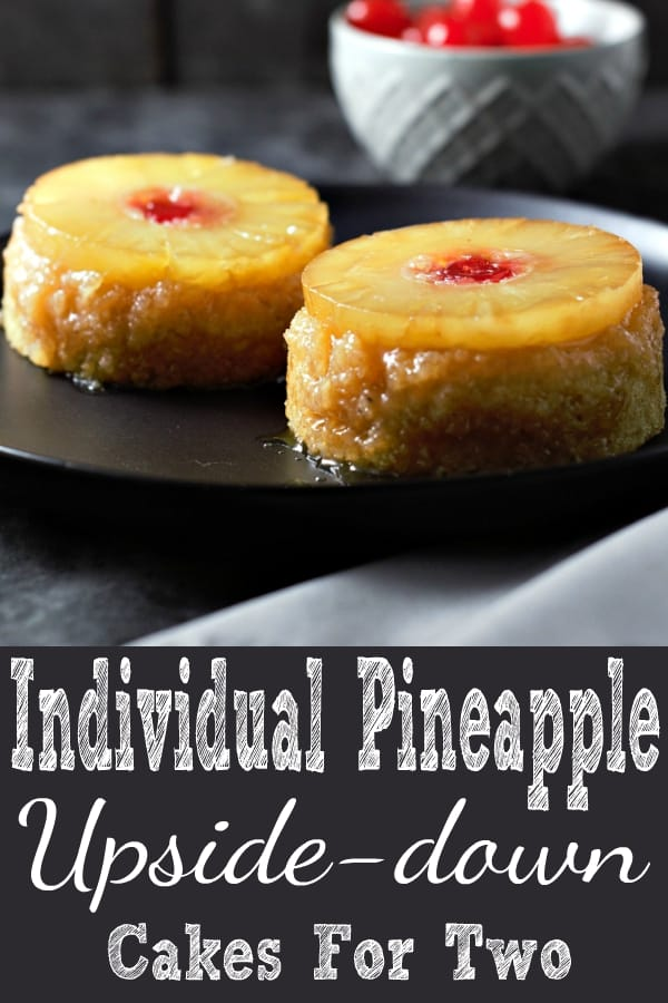 Individual Pineapple Upside-down Cakes Recipe for Two