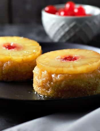 Individual Pineapple Upside-down Cakes Recipe for Two - delicious, easy, and quick, ready in just 30 minutes!