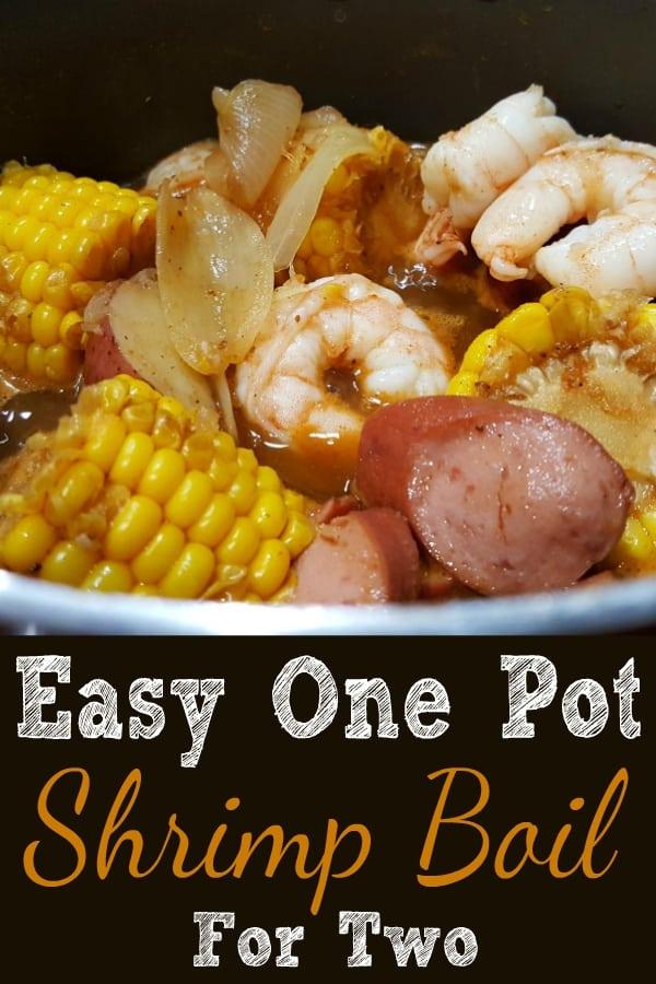 Easy One Pot Shrimp Boil Recipe for Two