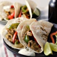 One Pan Chicken Fajitas and Fire Roasted Tortillas