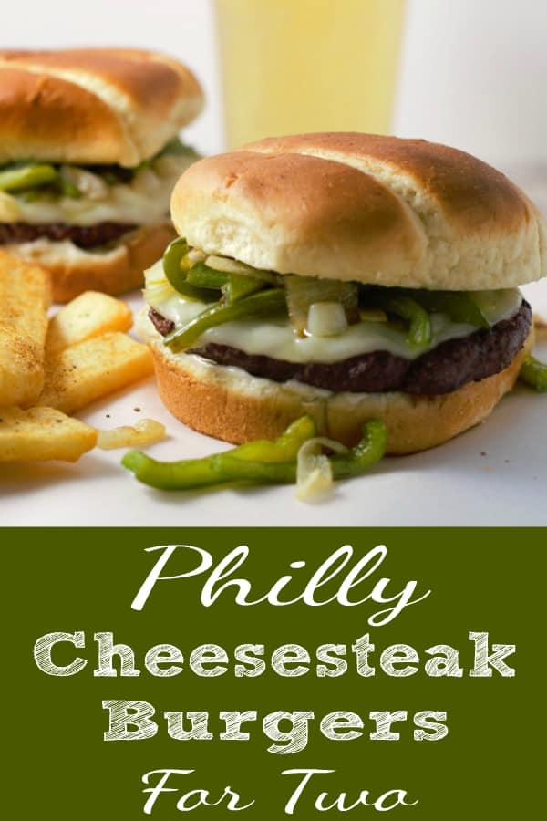 Philly Cheesesteak Burgers for Two