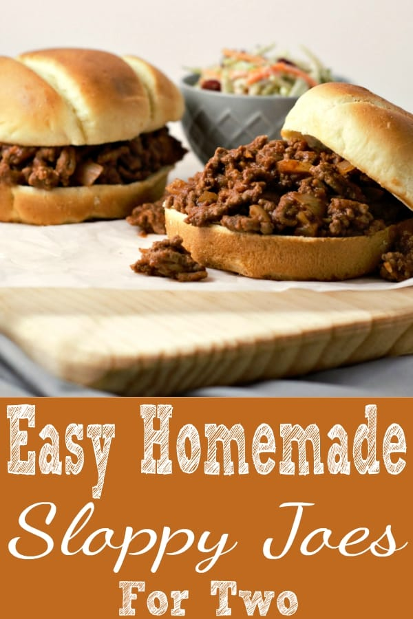 Sloppy Joes Recipe for Two