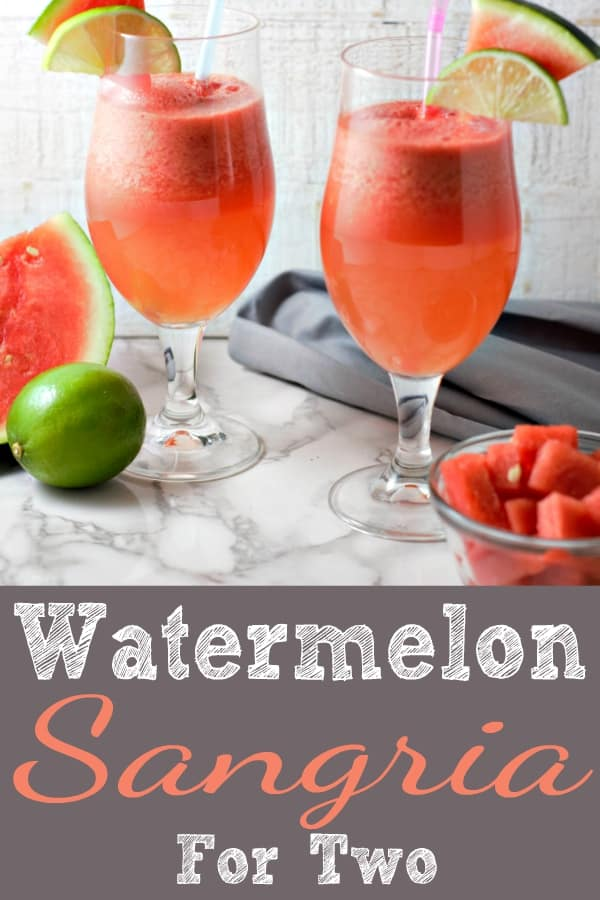 Watermelon Sangria Small Batch Recipe for Two