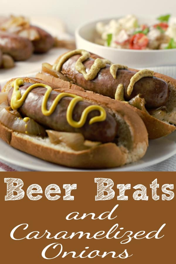 Beer Brats and Caramelized Onions
