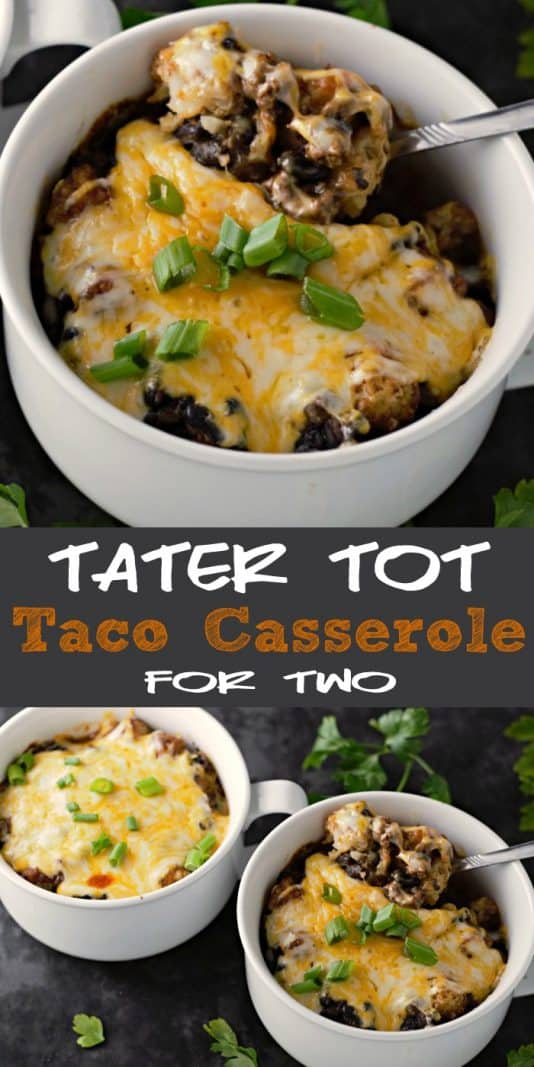 Homemade Taco Tater Tot Casserole for Two