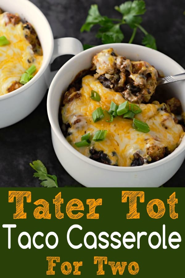 Taco Tater Tot Casserole Recipe for Two