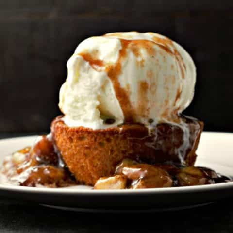 Caramelized Bananas Peanut Butter Cookie and Ice Cream serves 2