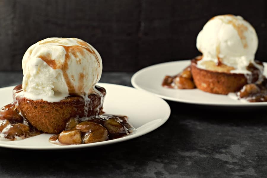 Caramelized Bananas Peanut Butter Cookie and Ice Cream