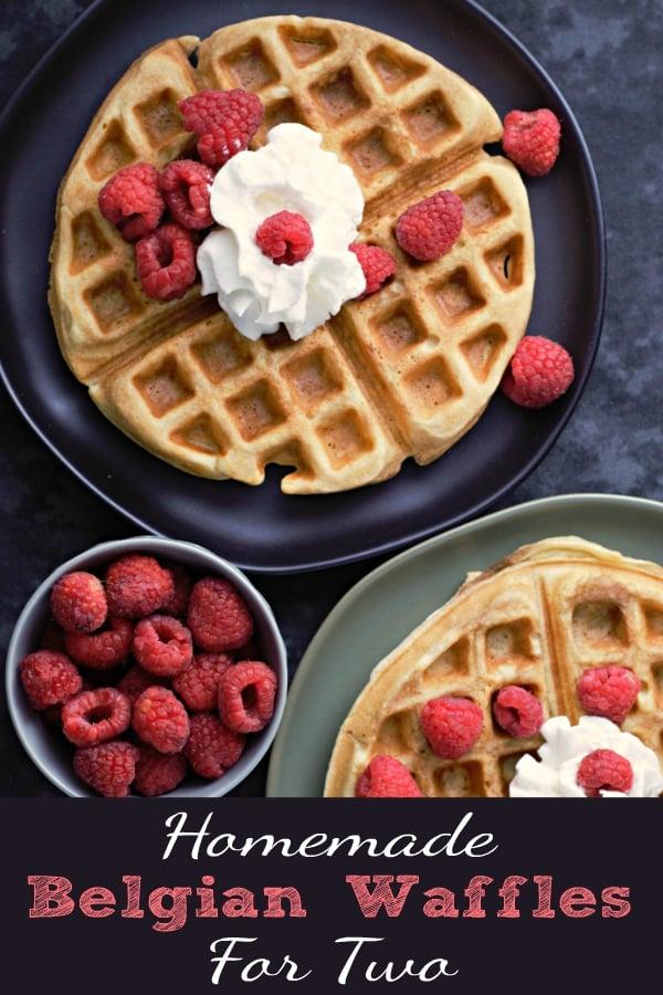 Homemade Belgian Waffles Recipe for Two