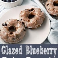 Glazed Blueberry Cake Donuts Small Batch Recipe for Two