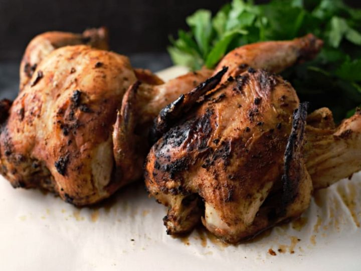Easy Grilled Beer Can Cornish Hens Recipe For Two Zona Cooks