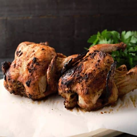 Grilled Beer Can Cornish Hens - serves 2