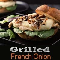 Grilled French Onion Chicken Sandwiches for Two