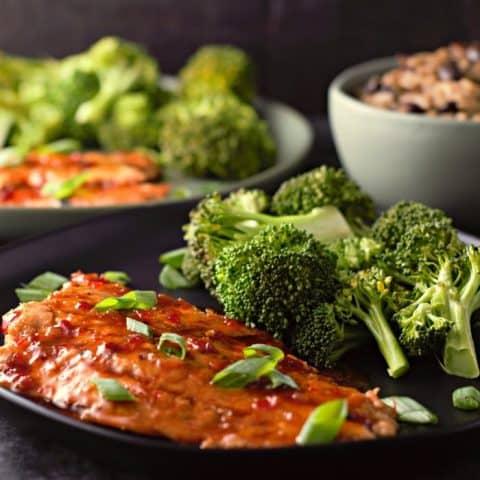 Grilled Salmon with Thai Sweet Chili Glaze Recipe serves 2