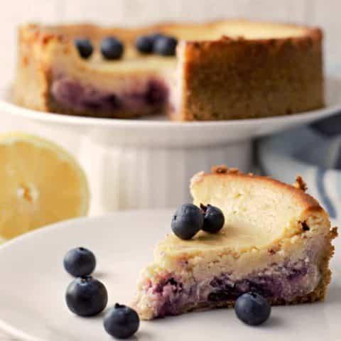 Lemon Blueberry Cheesecake Small Batch Recipe serves 2
