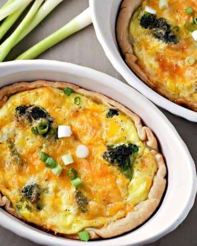 Individual Broccoli Cheese Quiche