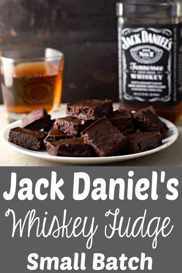 Jack Daniel's Whiskey Fudge Small Batch Recipe for Two