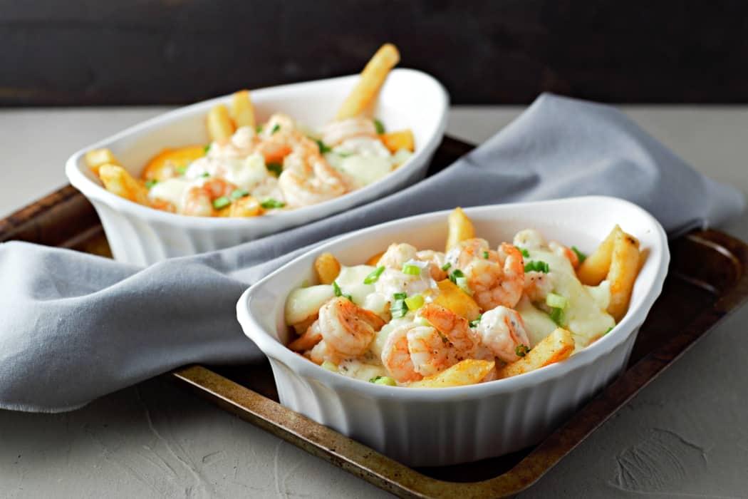 Parmesan Basil Shrimp Poutine
