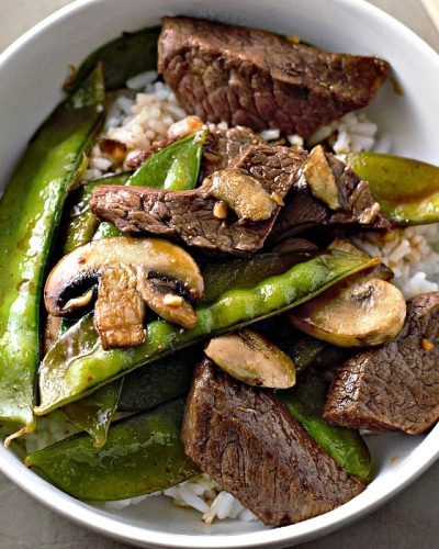 Asian Beef and Snow Peas Stir Fry